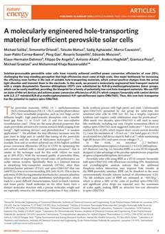 A molecularly engineered hole-transporting material for efficient perovskite solar cells